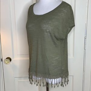 Aeropostale Olive  top Size Small